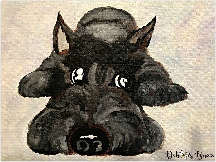 arts-craft-project-Scottie-dog-painting-refine