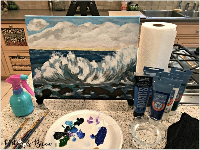 arts-craft-project-acrylic-painting-seascape