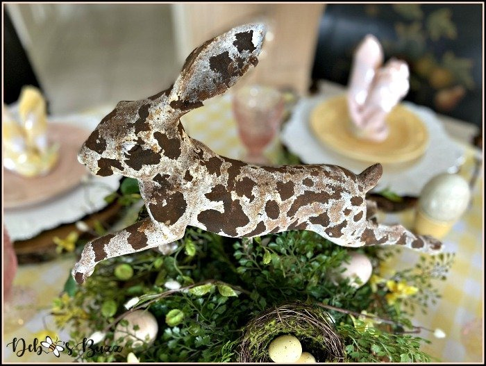 leaping-rustic-rabbit-easter-table-centerpiece