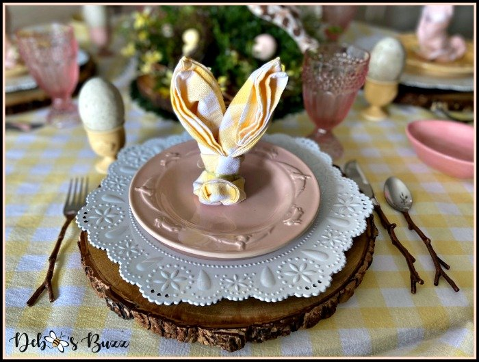 rustic-rabbit-Easter-table-pink-place-setting