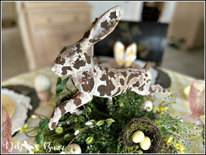 Sweet Rustic Rabbit Easter Table