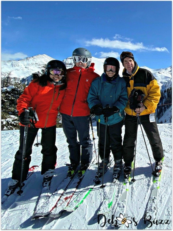 telluride-colorado-ski-vacation-foursome-skis