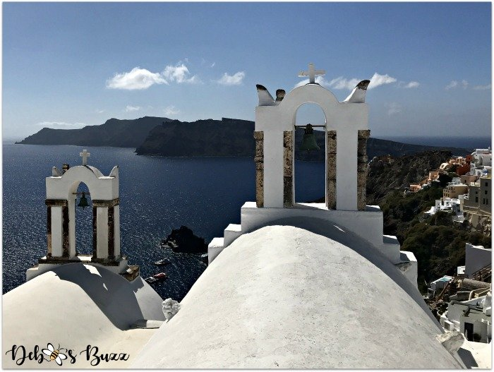 Santorini-Greece-Oia-bell-towers-water-view