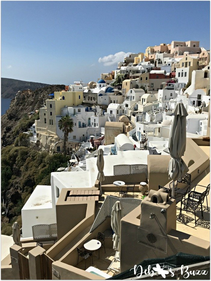 Santorini-Greece-Oia-colorful-terraced-buildings