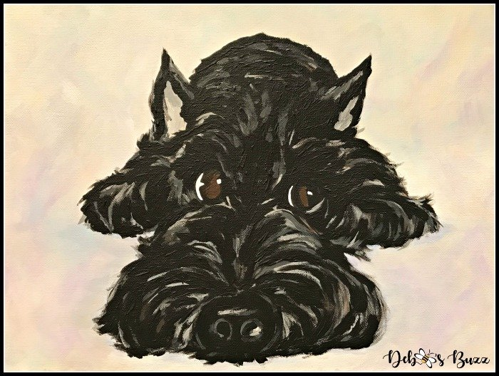 acrylic-painting-Scottie-dog-Debbee