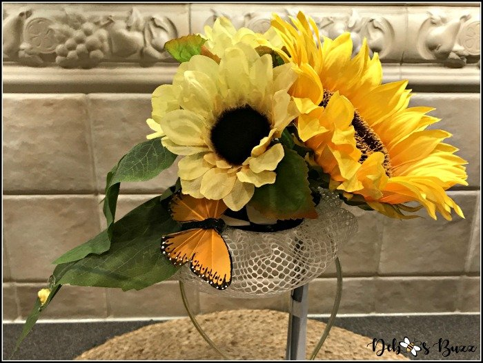 craft-yellow-floral-fascinator-butterfly-accent