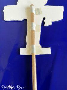 graduation-party-decoration-tape-dowel-rod