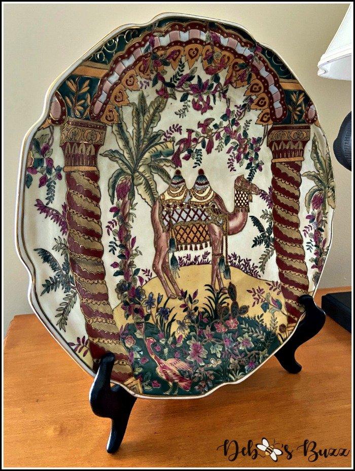safari-decor-decorative-camel-plate