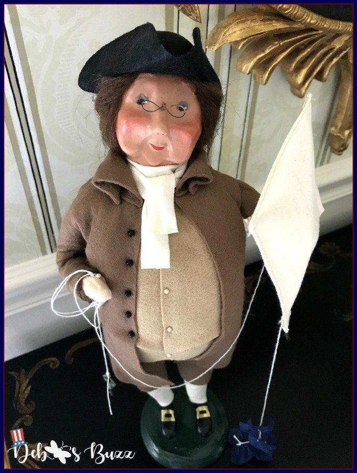 Independence -Day-decor-Benjamin-Franklin-Byers-Choice-figure-kite