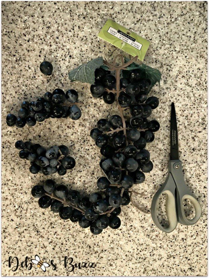 artificial-purple grapes
