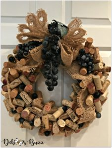 finished-diy-crafted-wine-cork-wreath-project