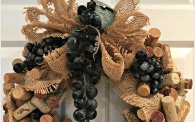Wine Cork Wreath DIY Tutorial