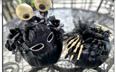 DIY Eerie, Elegant Black Pumpkin Decor