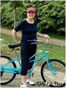 first-bike-ride-Tiffany-Blue-Electra-cruiser