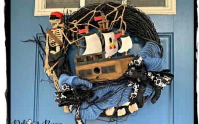 DIY Sunken Shipwreck Pirate Wreath
