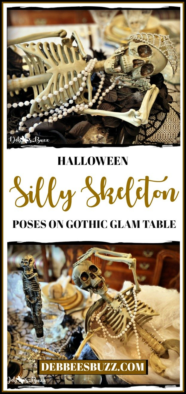 Halloween-silly-skeleton-pose-gothic-glam-decor