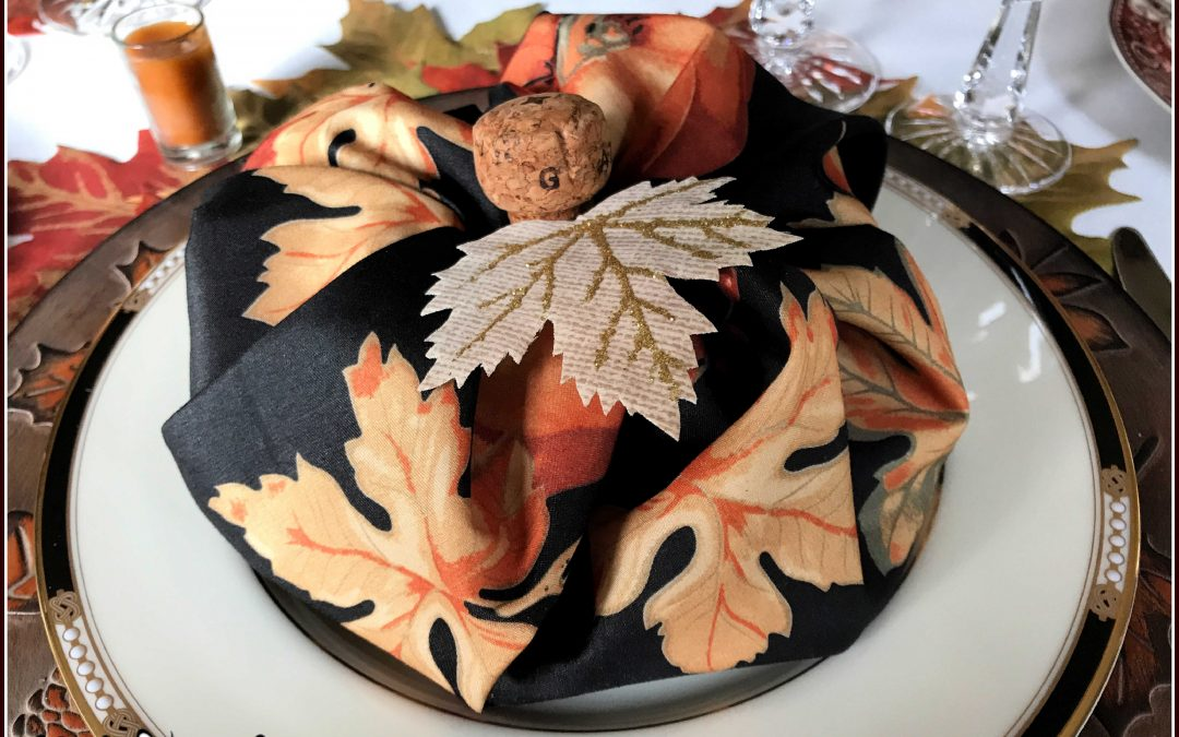 Thanksgiving Table Setting: When Three's a Charm