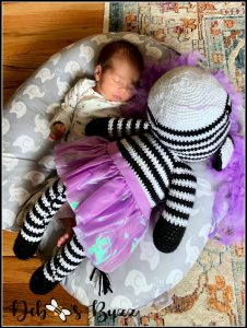 Crocheted-zebra-baby-gift