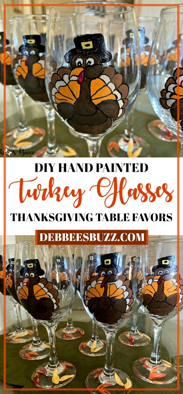DIY-craft-Thanksgiving-turkey-glasses-table-favors