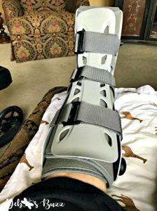 Debbee-post-foot-surgery-hard-boot