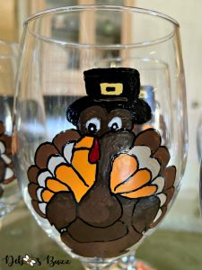 Thanksgiving-turkey-painted-glass-stem