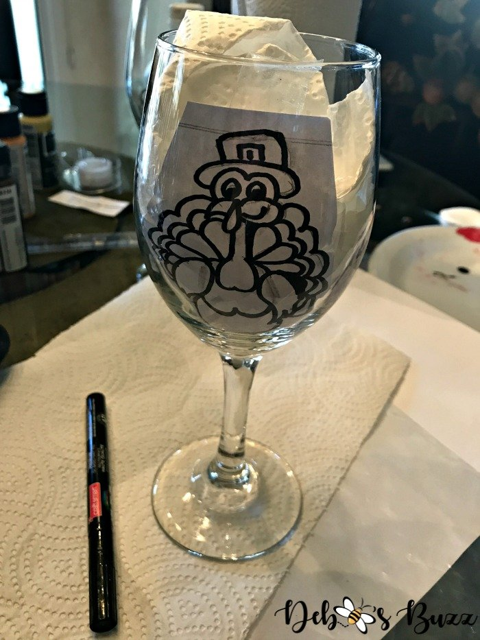Thanksgiving-turkey-painted-glass-image-template