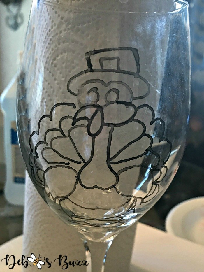 Thanksgiving-turkey-painted-glass-trace-image