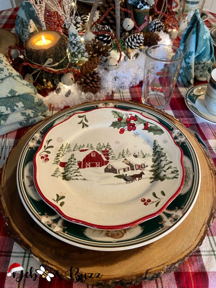 Better-homes-garden-heritage-christmas-plate-sleigh-ride