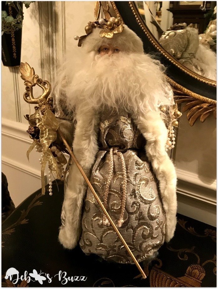 gold-white-Santa-Claus-collection-figure