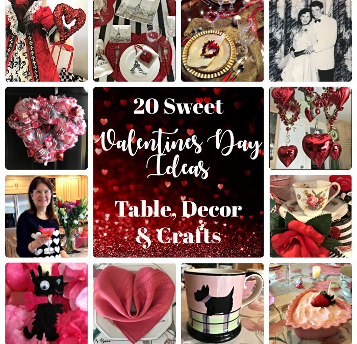 20 Sweet Valentines Day Ideas for Table, Crafts & Decor
