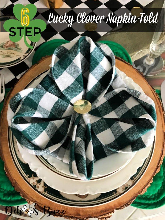 St.-Patrick's-Day-3-leaf-clover-napkin-fold-tutorial