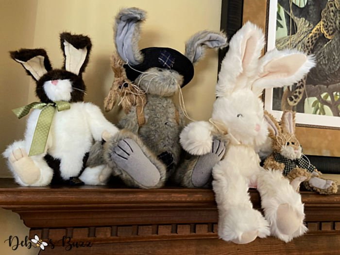 Darling Vintage Style Stuffed Easter Bunny Collection