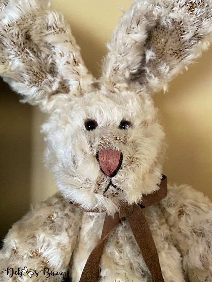 large-vintage-looking-jointed-tan-stuffed-Easter-bunny