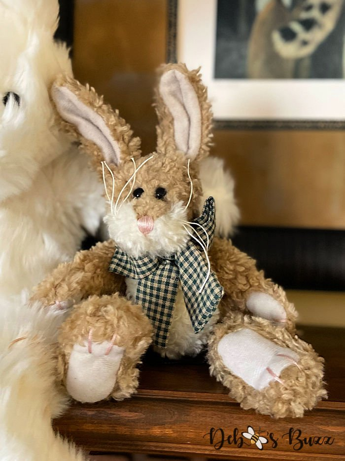 stuffed-brown-country-Easter-bunny