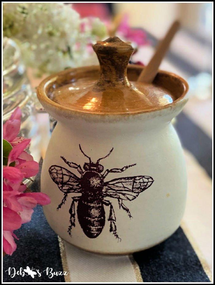 bee-motif-honey-pot