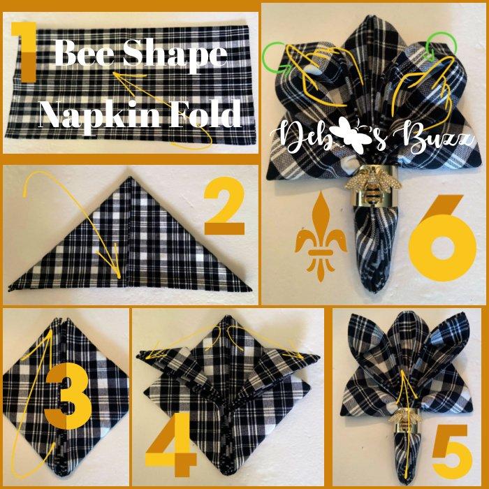 bee-shape-napkin-fold-tutorial-6-steps