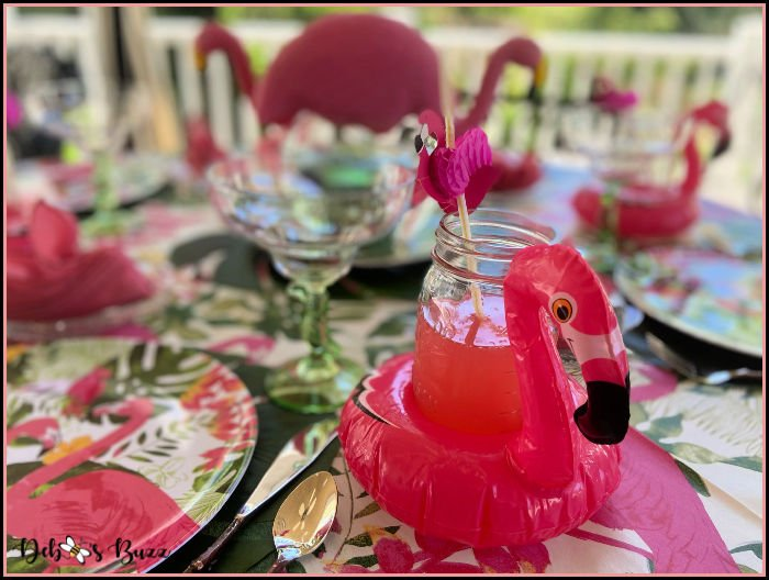 Fun Flamingo Tropical Table Kicks Off Summer
