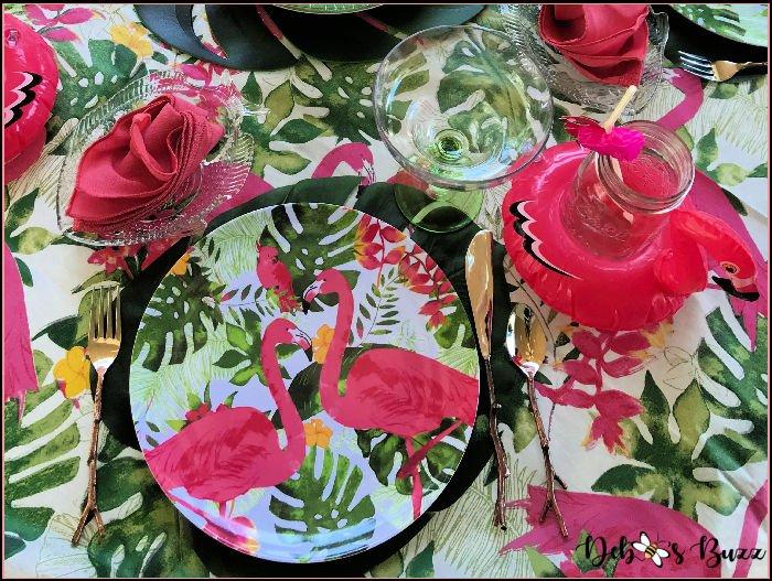 Dollar-Tree-melamine-flamingo-dinner-plate
