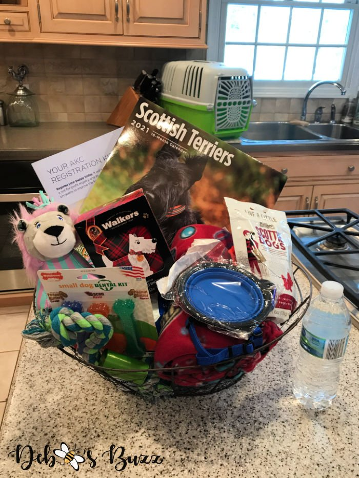 Welcome-new-scotty-puppy-gift-basket