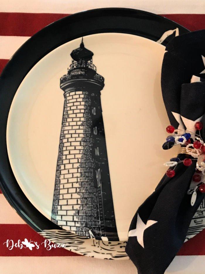 patriotic-decor-nautical-lighthouse-plate