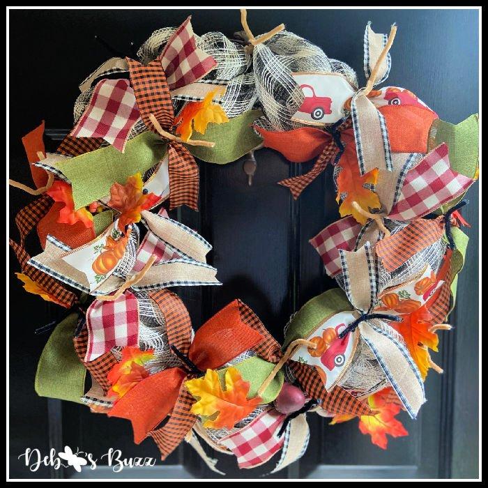 diy-fall-wreath-added-ribbons