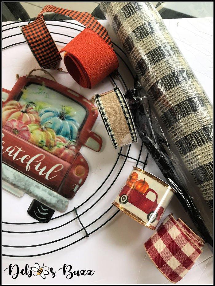 diy-fall-wreath-craft-materials-mesh-ribbons