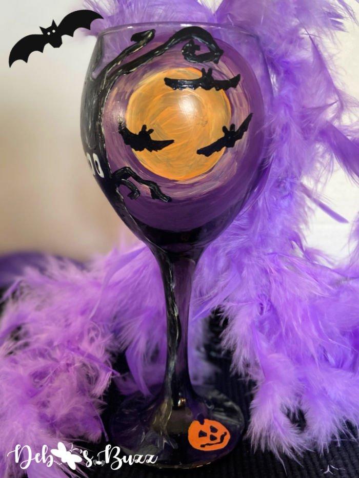 Halloween-spooky-moon-bats-painted-black-glass