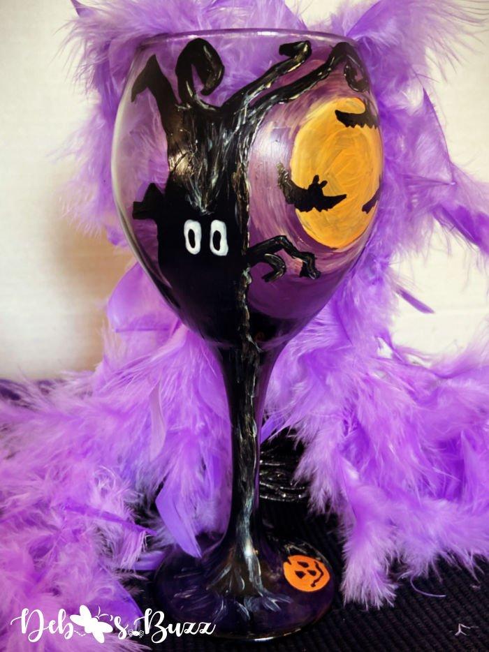 spooky-black-tree-hand-painted-Halloween-glass