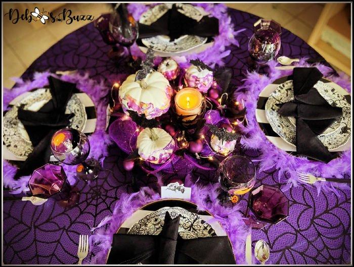 batty-black-purple-Halloween-tablescape